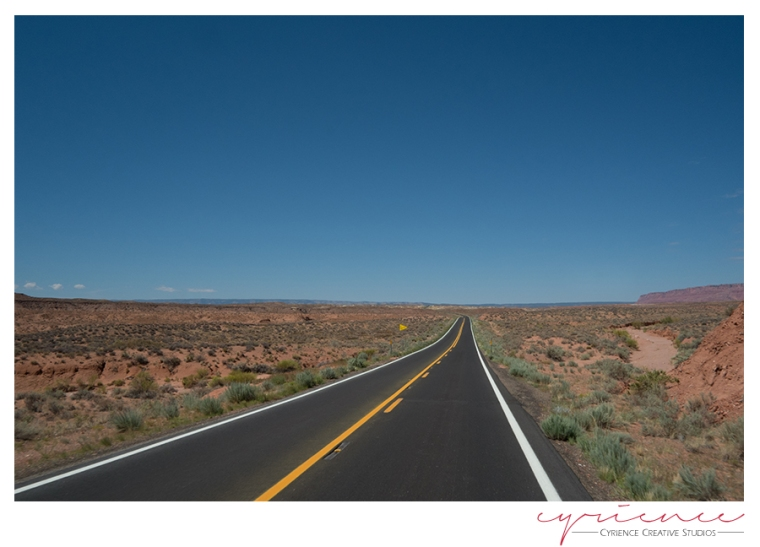 The road to the Grand Canyon, North Rim