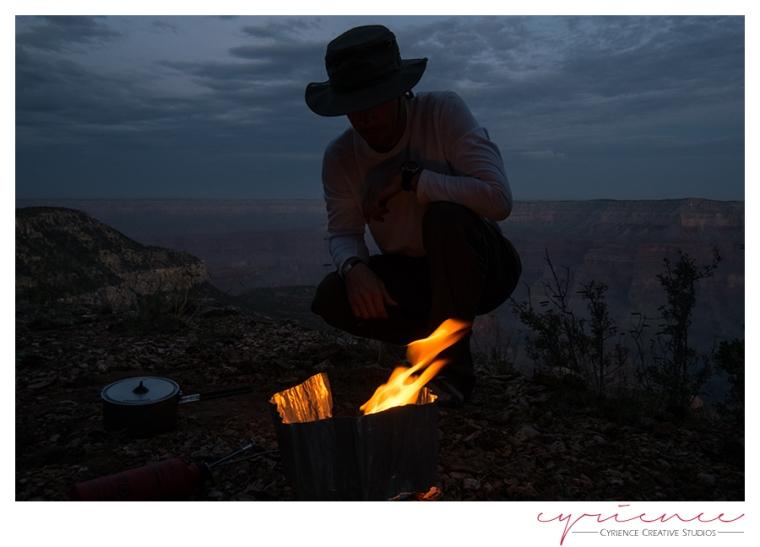 nighttime on Powell Plateau, Grand Canyon