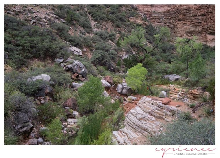 campsite, North Bass Trail, North Rim, Grand Canyon