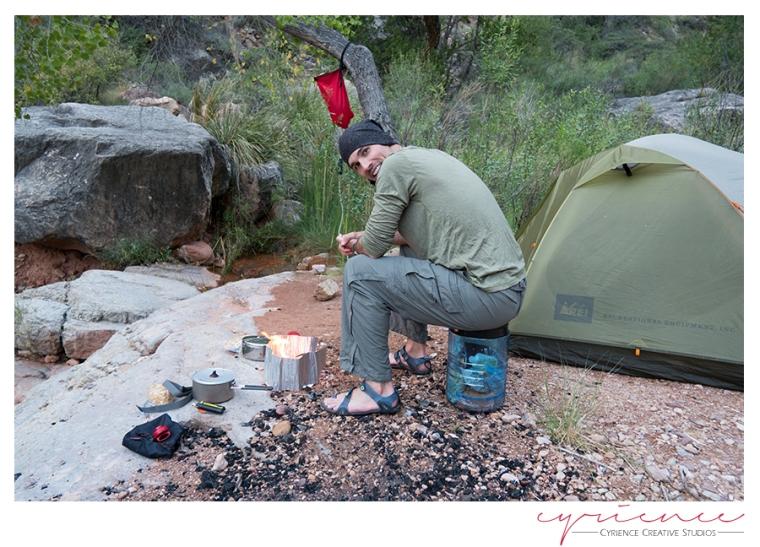 Oasis campsite, North Bass Trail, North Rim, Grand Canyon