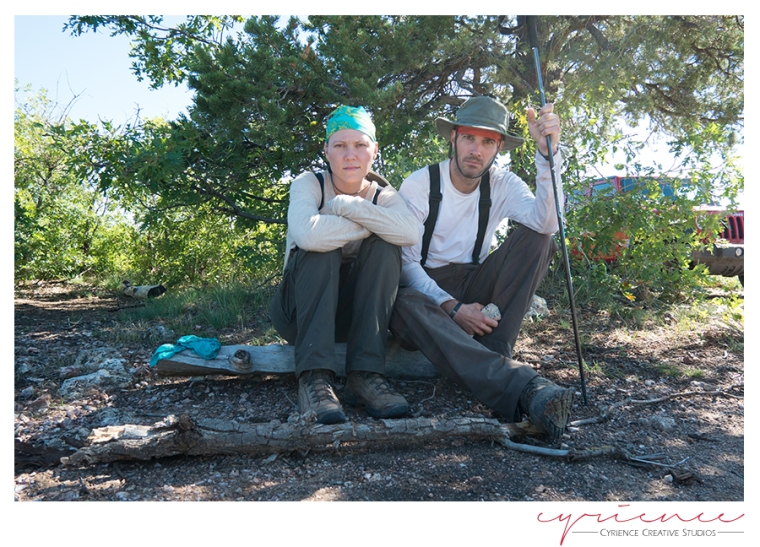 American Gothic Hikers, North Bass Trail, North Rim, Grand Canyon