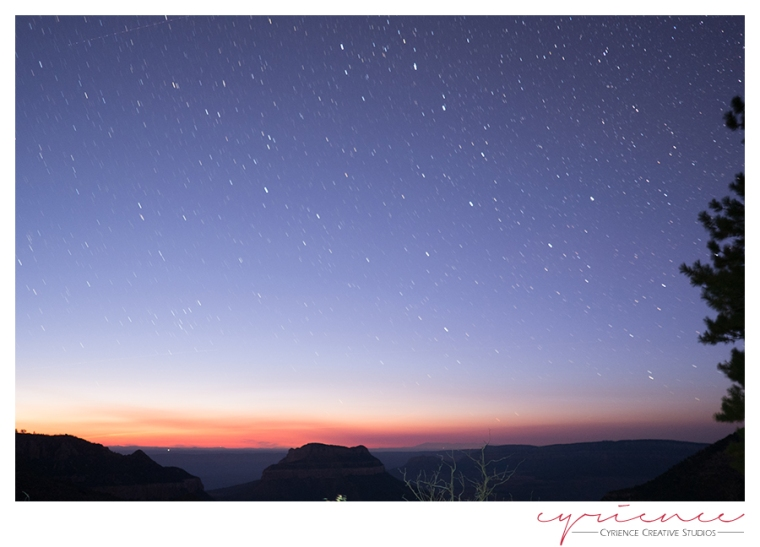 Starry night, Swamp Point, North Rim, Grand Canyon