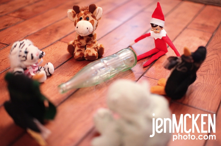 Elf on the Shelf gets Naughty (yes, with a capital N)