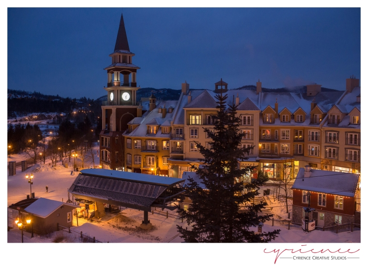 A winter evening at Mont Tremblant