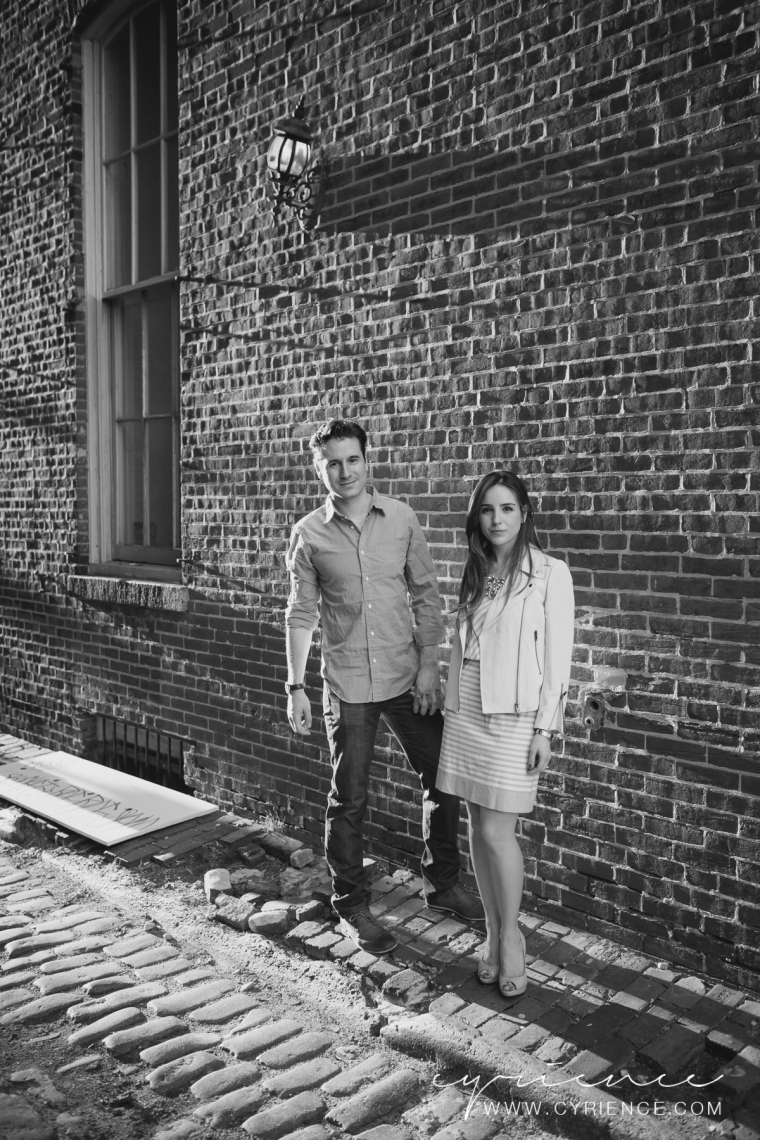 Philadelphia engagement session in Old City