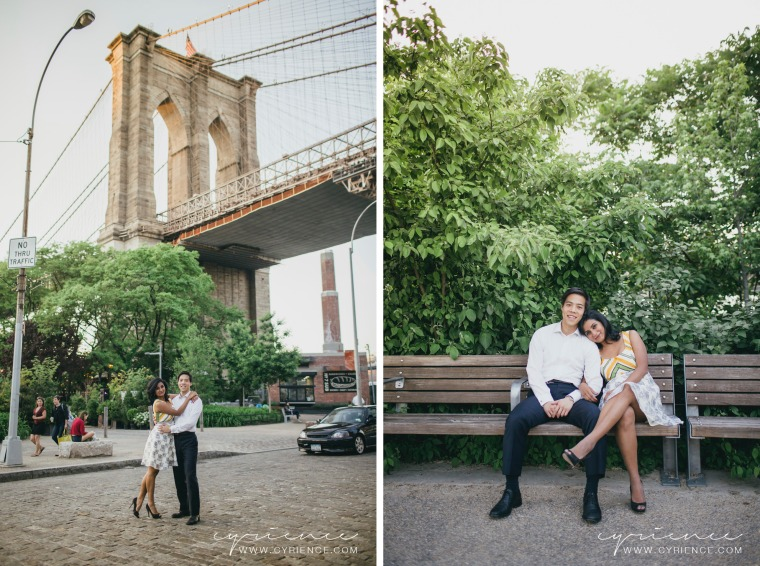 DUMBO Brooklyn, NY Engagement Session at Sunset
