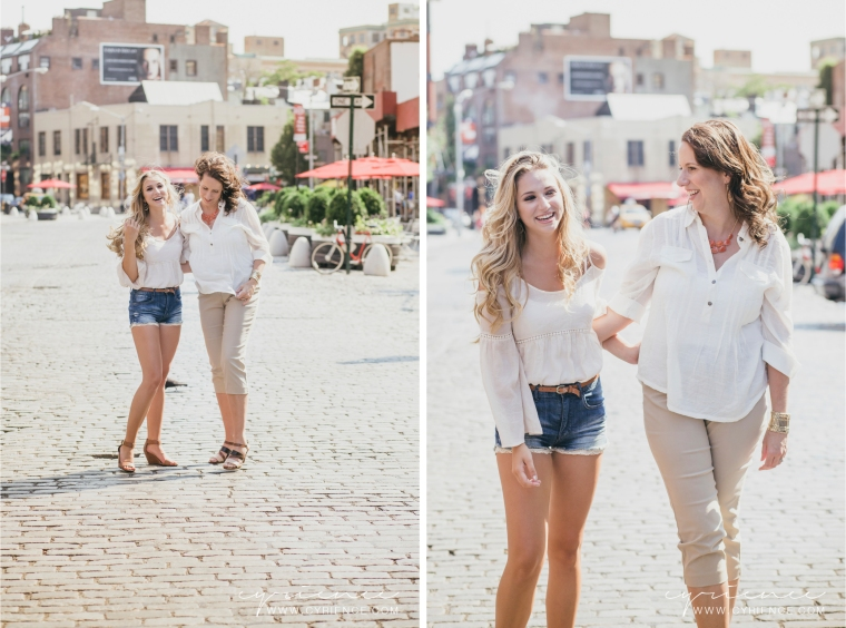 Mom and daughter portrait session in New York City celebrating her Sweet 16.