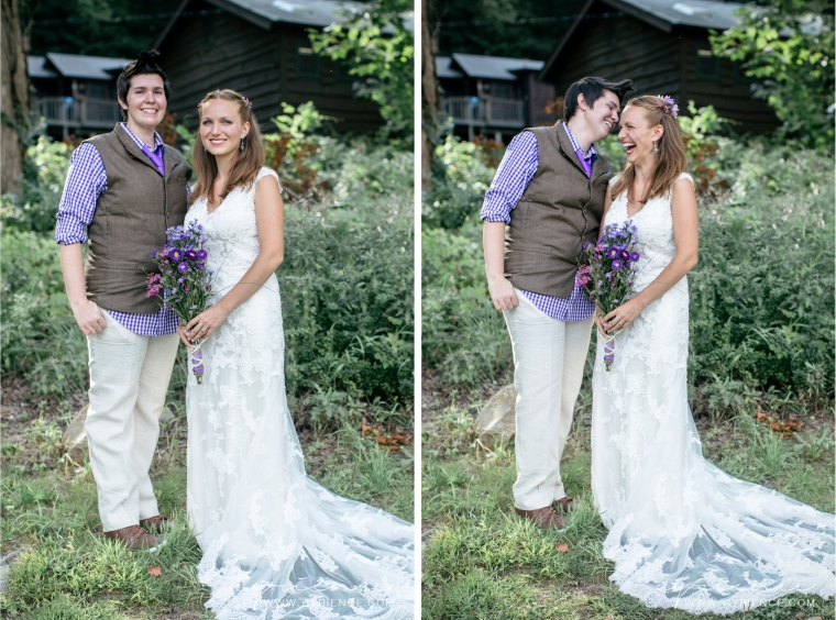 Jacquie and Kelly's rustic, DIY wedding at Surprise Lake Camp in Cold Spring, NY