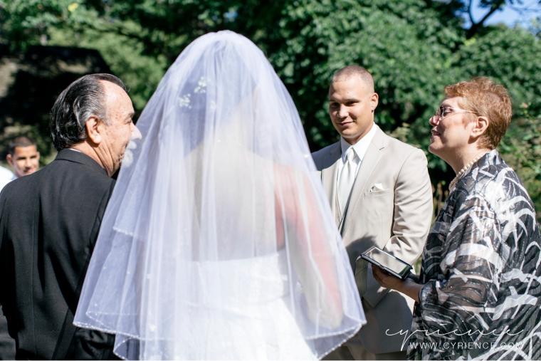Krystal and Eddie's Shakespeare Garden Wedding at Central Park, New York City Wedding Photography.
