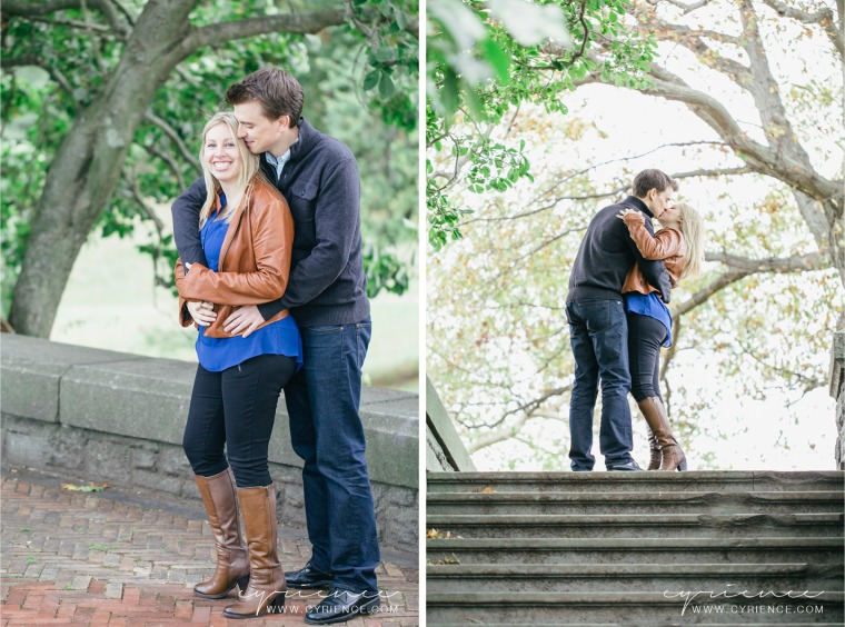 Tori and Ryan's Engagement Photo Session at Rockwood Hall State Park in Tarrytown, NY