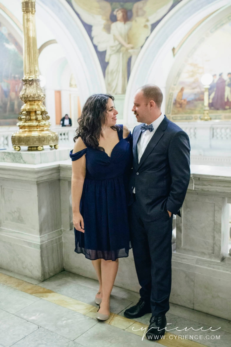 Amanda and Adam elope at the Jersey City Courthouse, Jersey City Wedding Photography.