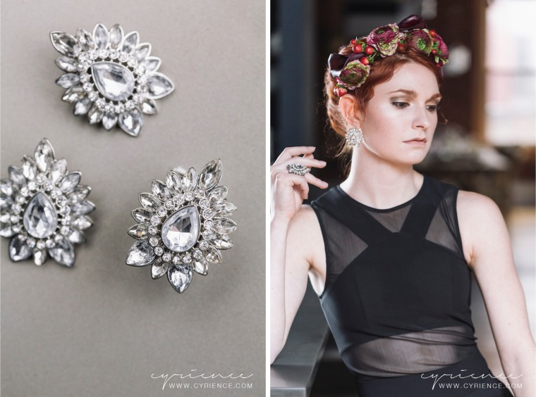 Fashion Editorial focusing on the edgier side of floral crowns