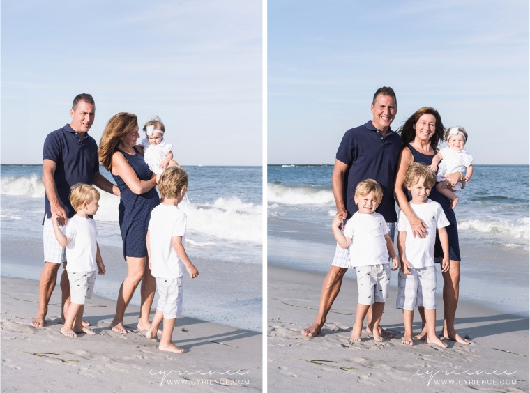 Summertime family lifestyle photo session at Long Beach Island, New Jersey