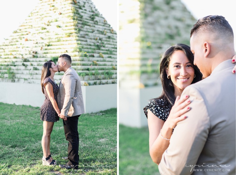 Long Island City sunset engagement session at the Socrates Sculpture Garden, Queens, New York City